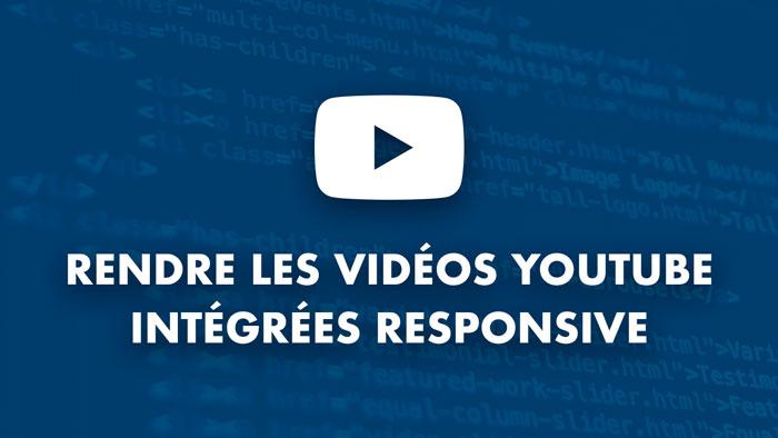Photo d'illustration du projet Rendre les Vidéos Youtube intégrées Responsive