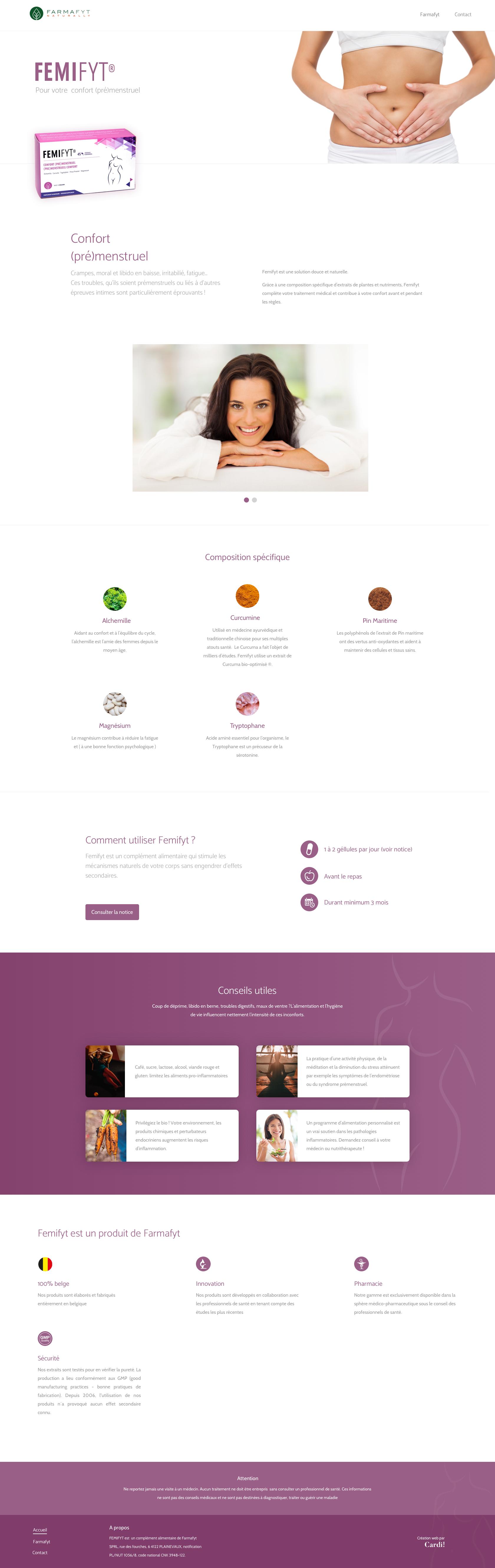 Design du site Femifyt.com
